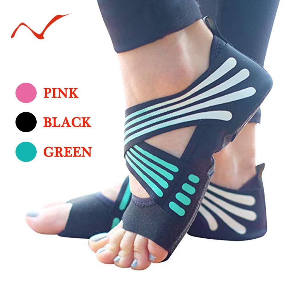 3 Colors Fashion Women's Non-slip Yoga  Fitness Dance Pilates Socks Indoor Anti-skid Yoga Shoes Gym Socks Ladies Sports Socks
