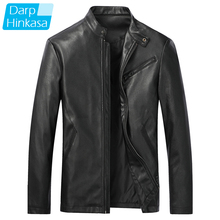 Jacket Motorcycle Leather Coat Men Winter Casual Brand Spliced New-Fashion