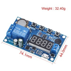 Image 4 - DC 5V Real time Timing Delay Timer Relay Module Switch Control Clock Synchronization Multiple mode control Wiring diagram