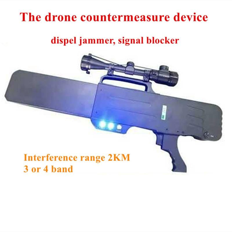 Портативный противовесный прибор для беспилотника, блокировщик сигнала 3 или 4 диапазона, защищающий от помех, принудительная посадка|Детали и аксессуары|   | АлиЭкспресс