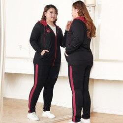 Traje de mujer de talla grande estilo occidental 2019 ropa de primavera nuevo estilo por edad adelgazamiento de grasa Mm Cardigan de manga larga conjunto de dos piezas F