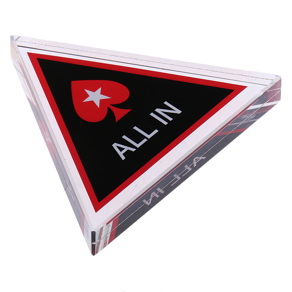Poker Chips Triangle All-in-Chip Dealer Button Crystal Poker Guard Cards All-in-Chip Dealer Button Entertainment Tools for Poker Game