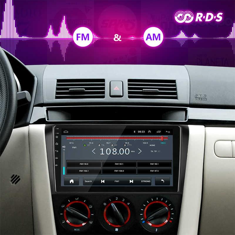 アンドロイド 8.1 2 喧騒車のラジオマルチメディアプレーヤーマツダ 3 2004-2009 マックスアクセラ RDS DSP ナビゲーション GPS ラジオの
