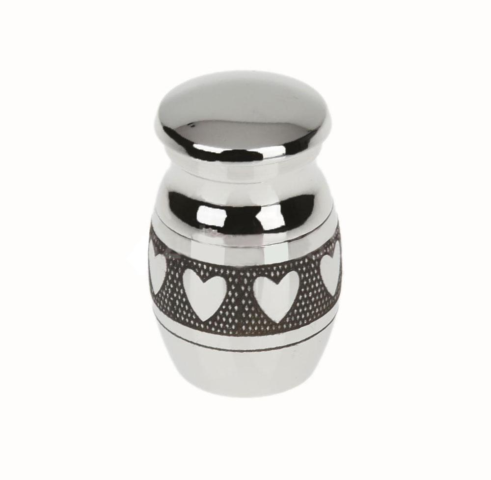 Memorial Container Pet Urns Heart Pattern Stainless Steel Cremation Urn Ash Holder