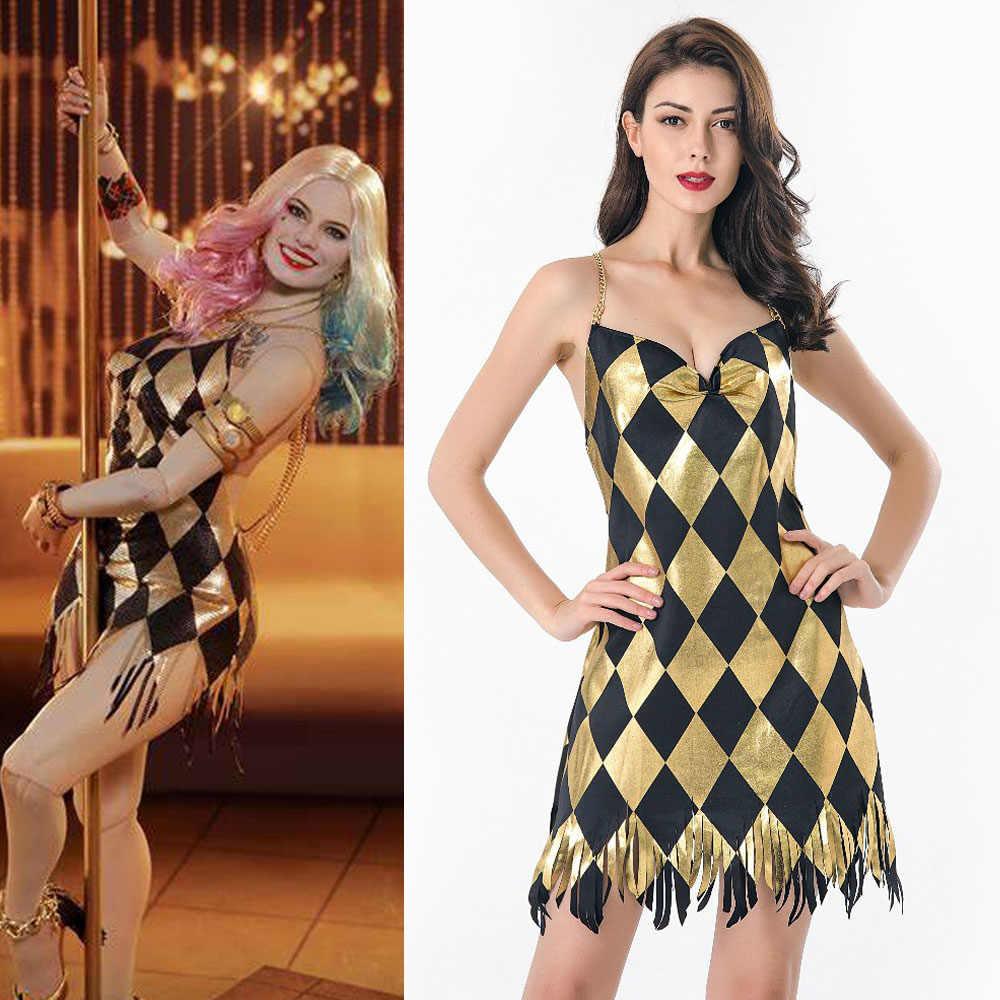 Harley Quinn Dress Birds Of Prey Cosplay Costume Sexy Women Dj Dance Dress Suicide Squad 2 Halloween Party Costumes Aliexpress