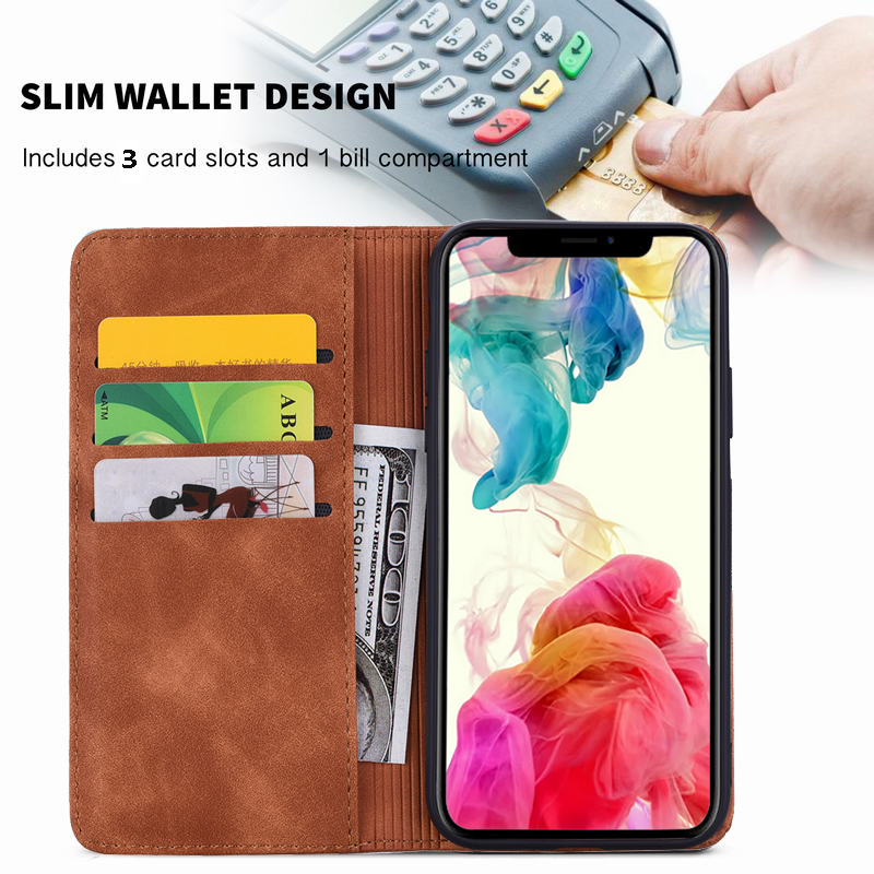 Leather Coque Wallet Case for iPhone 11/11 Pro/11 Pro Max 3