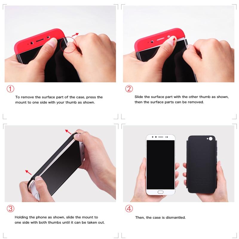H1bf2249d292c4fe0be4237a63d6ca060P 3-in-1 Plastic Hard 360 Tempered Glass + Case for Xiaomi Redmi Note 7 Anti-Shock Back Cover Case for Xiaomi Redmi Note 7 Pro 7A
