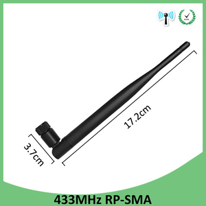 Image 2 - 10pcs 433Mhz Antenna 5dbi RP SMA Connector Waterproof 433 MHz Directional Antena Rubber +21cm SMA Male /u.FL Pigtail Cable