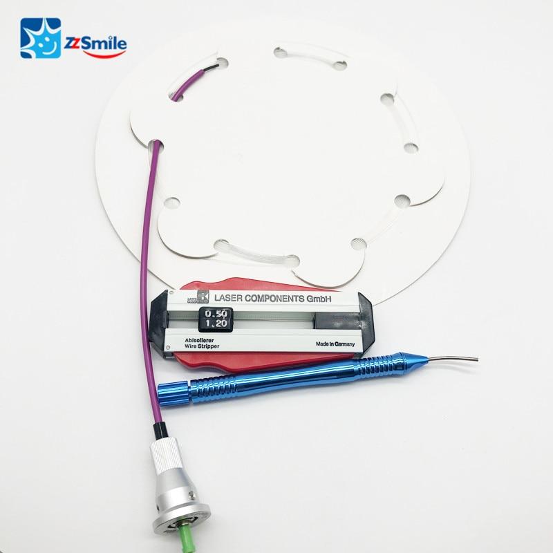 Dental Laser 2.5W Tools Strippable Fiber(3m) 400um  Autoclavable Handpiece Dental Stripper