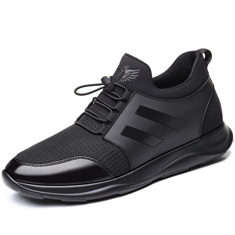 Men Mesh Casual Sneakers Outdoor Black Breathable Running Shoes Weave Men Lace Up Athletic Contest Zapatillas Hombre Deportiva