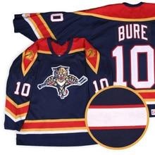 Florida Panthers#10 Павел Буре Ретро Возврат хоккейная Джерси Вышивка сшитая Настроить любое количество и имя