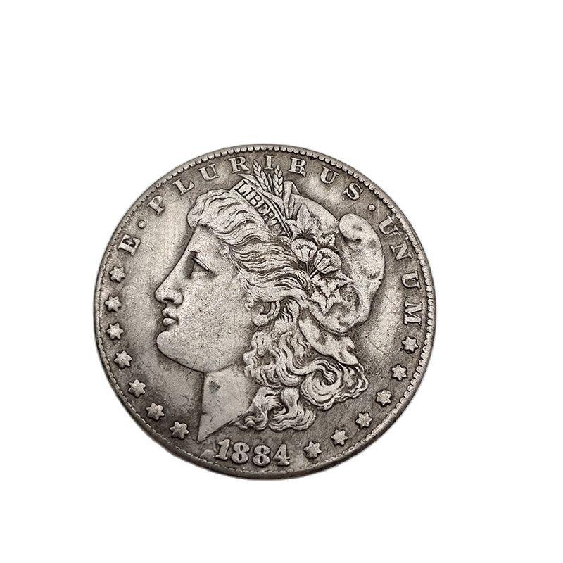 Amerikanischen 1884 Morgan Münzen Eine Dollar Gedenkmünze Sammlung Souvenirs Home Dekoration Handwerk Desktop Ornamente Geschenk