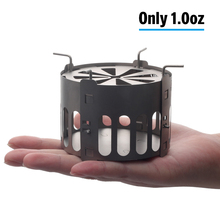 Camping Wood Stove Portable Outdoor Folding Titanium Burning for Backpacking Survival Cooking Picnic Hunting