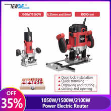 1050W/1500W/2100W Power Electric Router for Wood Milling Engraving Slotting Trimming Hand Carving Carpentry Electric Trimmer - DISCOUNT ITEM  35% OFF Tools