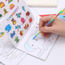 24 Pages Coloring Book Kindergarten Coloring Paintings And Children's Graffiti This Baby Painting Picture Book Coloring Book(China)