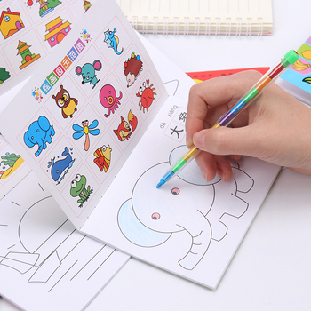 24 Pages Coloring Book Kindergarten Paintings And Children's Graffiti This Baby Painting Picture - discount item  49% OFF Books