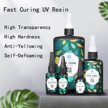 UV Resin Ultraviolet Curing Quick-drying Hard Clear Sunlight Activated Transparent Resin for Earring Jewelry Making Glue DIY
