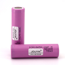 2600mah Actual Capacity Original 18650 Lithium Battery 2600mah 3.7v ICR18650 26F M Cells