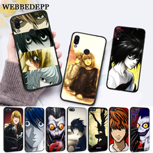 WEBBEDEPP Death Note Silicone Case for Xiaomi Redmi Note 4X 5 6 7 Pro 5A  Prime все цены