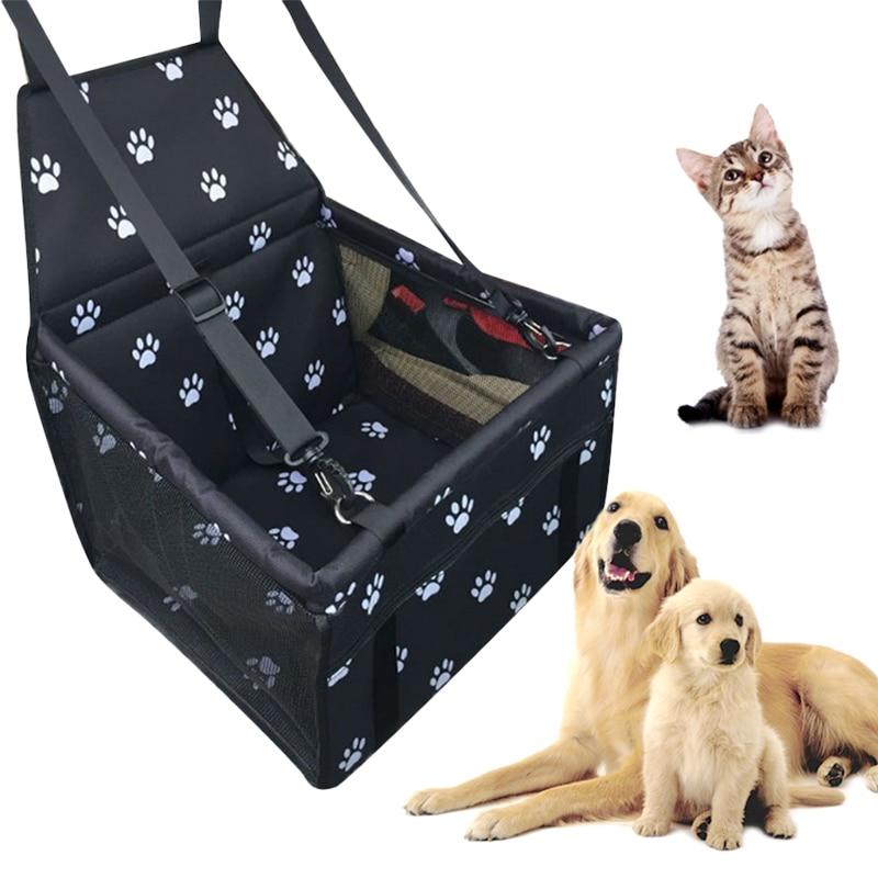 Waterproof Pet Dog Car Seat Cover Travel Dog Carrier Outdoor Safe Dog Car Seat Basket Cat Puppy Bag Travel Mesh Hanging Bags 4