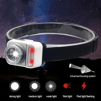 цена на 5 mode Telescopic Powerfull LED Headlamp T6+COB LED Headlight Head Lamp Flashlight Torch Lanterna head light for Camping