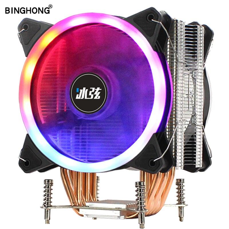 Enfriador de Cpu BINGHONG, 6 tuberías de calor X79 LGA 2011-V3/V4 RGB 120mm, ventilador de refrigeración, procesador de computadora de refrigeración X99 X299 2020, novedades Intel Xeon E5 2678 V3 e5-2678 V3 CPU 2,5G Serve LGA 2011-3 PC procesador de escritorio para placa base X99