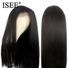 ISEE HAIR Straight Lace Frontal Human Hair Wigs 150% Density