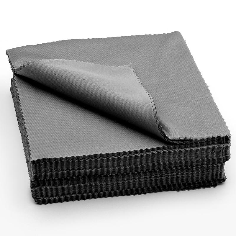 Салфетка из микрофибры для очистки очков, салфетка для чистки линз, черного цвета, аксессуар для очков, 20 шт.