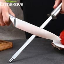 ERMAKOVA точилка для ножей 10 дюймов кухонный хонинговальный стальной нож заточка из углеродистой стали прочная точилка для ножей из нержавеющей стали