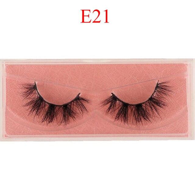 Mink Lashes 3D Mink Eyelashes 100% Cruelty free Lashes Handmade Reusable Natural Eyelashes Popular False Lashes Makeup E1- E13 1