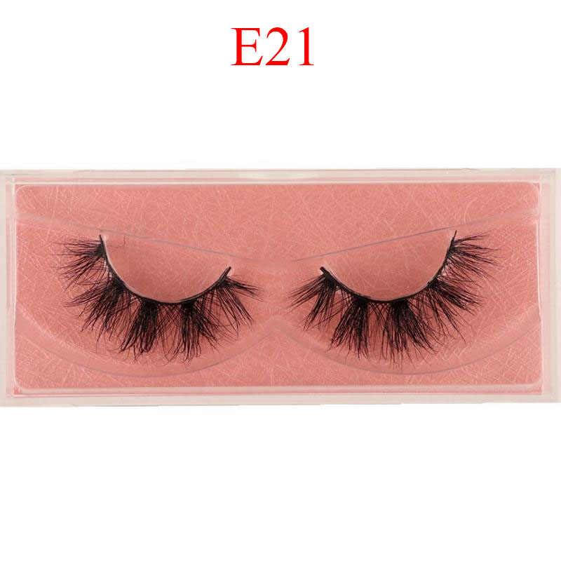 Nerz Wimpern 3D Nerz Wimpern 100% Cruelty free Peitsche Handgemachte Wiederverwendbare Natürliche Wimpern Beliebte Falsche Wimpern Make-Up E1- E13