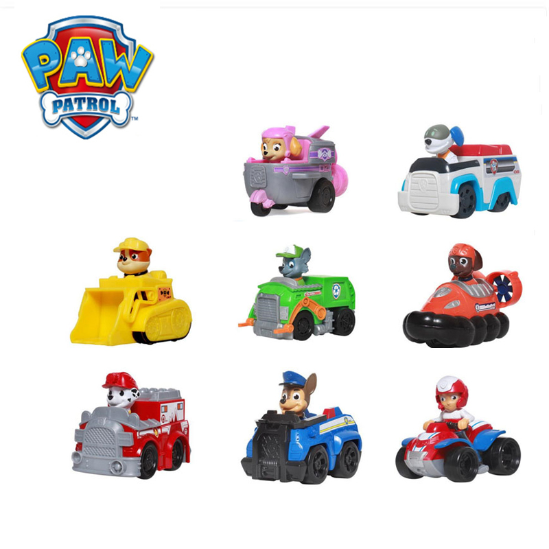 Paw Patrol Toys Patrulla Canina Anime Figurine Car Plastic Action Figure Model Birthday Gifts Toys For Children 49C