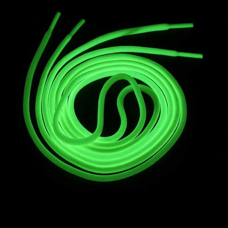 Luminous Shoelaces Round Glow In The Dark Night Color Fluorescent Shoelace Sports Canvas Shoelaces Adult Children Shoe Laces
