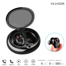 Bluetooth 5.0 EDR Bluetooth Headset Wireless Earbuds Mini True Bluetooth 5.0 Stereo Earphone Bass in-Ear Headset saenkdea 518 stylish rhinestone bluetooth v3 0 edr music bluetooth headset green silver