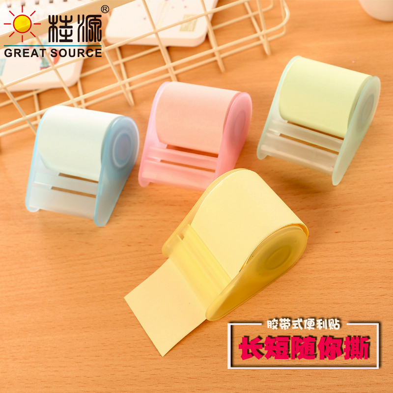 Roll Note Sticker With Portable Dispenser Extra 3 Color Memo Pad Roll(36PCS)