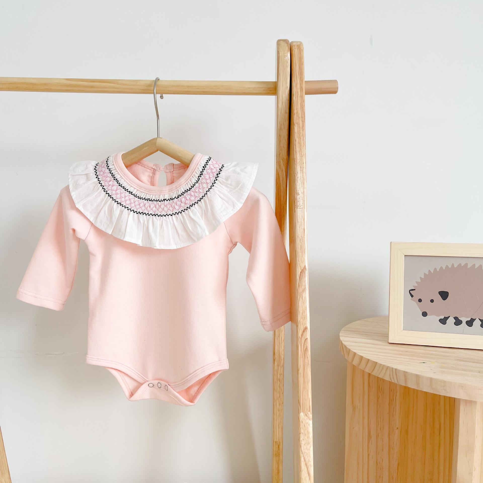 do bebê manga longa bodysuits roupas de bebê macacões