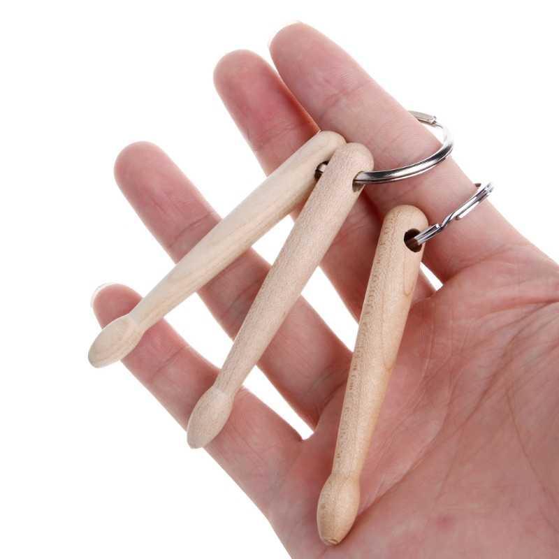 2019 Новый мини-барабан палочки брелок барабанные палочки из дерева брелок перкуссия подарок