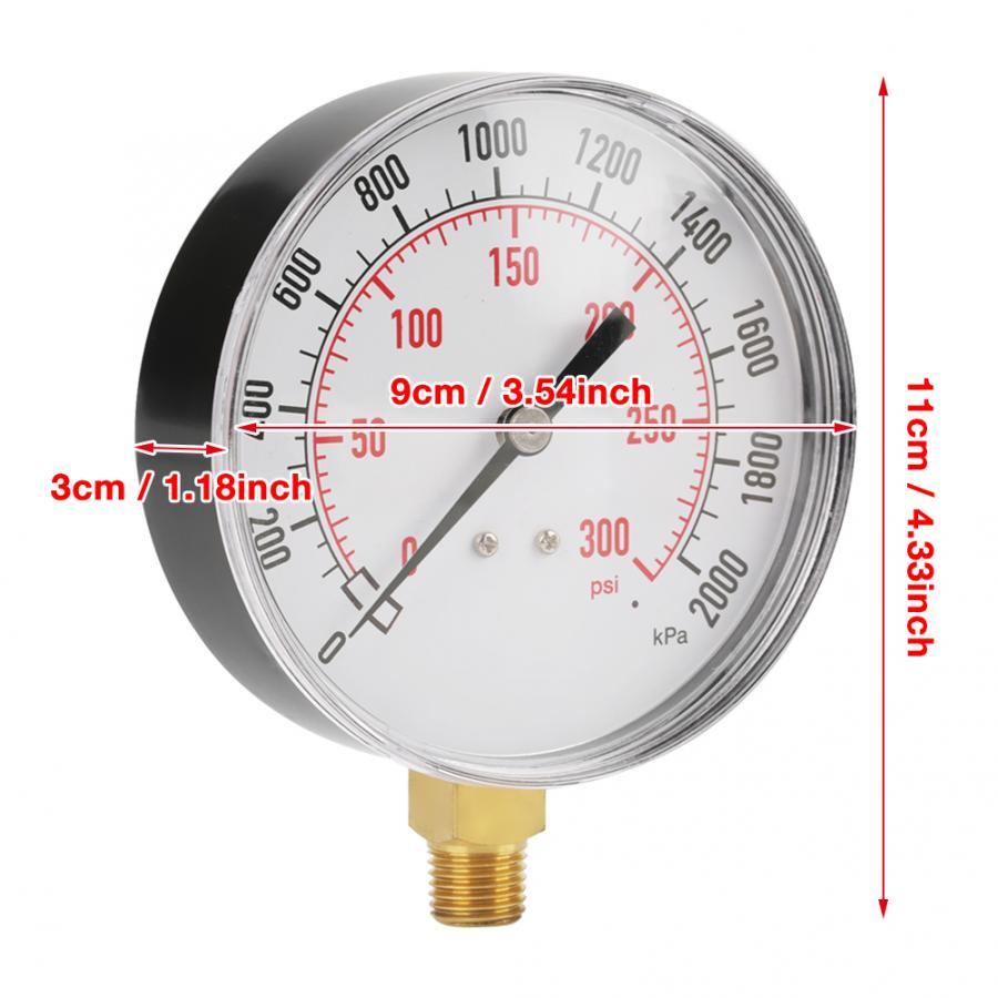 for Industry Air Tool Base Entry Pressure Gauge Water Pressure Gauge Pressure Gauge Manometer Pressure Gauge