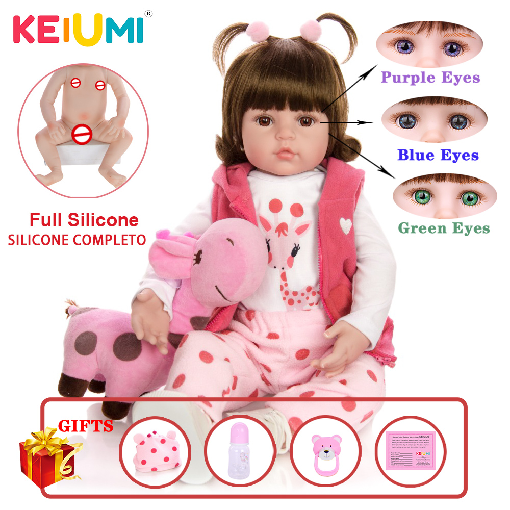48 cm Silicone Full Body Reborn Baby Dolls Fashion Realistic Waterproof Baby Dolls Soft Touch Toddler Xmas Gift Birthday Present(China)