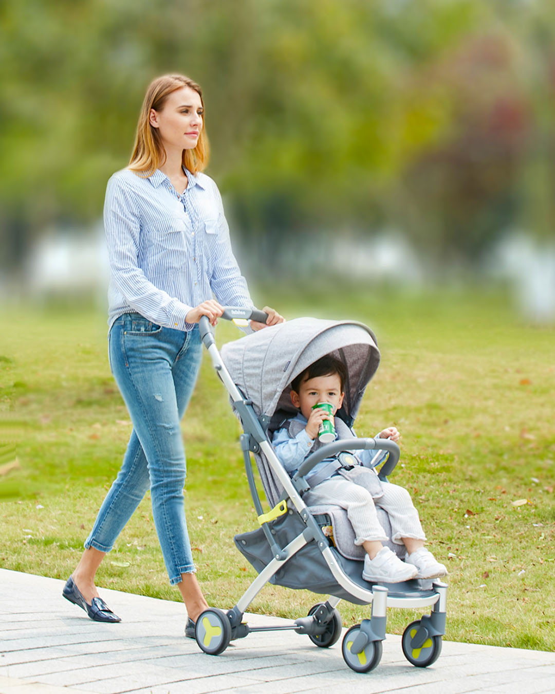 BeBehoo lightweight stroller can sitting & lying folding stroller ultra-light portable Traveling baby stroller