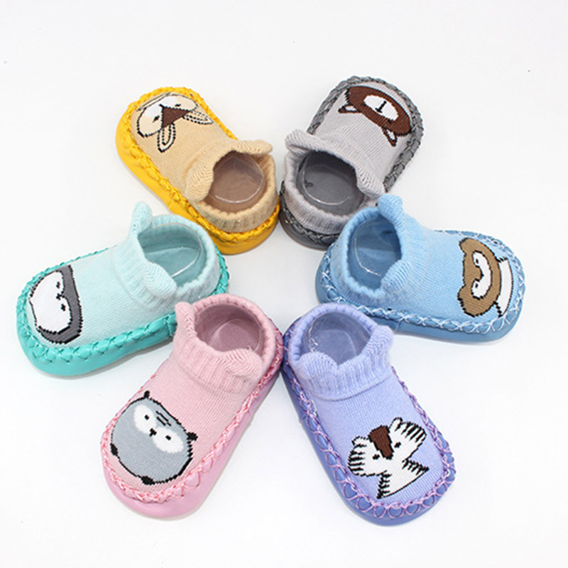 2020  Baby Shoes Fashion Cartoon Animal Baby Girls Boys Anti-Slip Socks Slipper Soft Comfortable Casual Shoes Boots