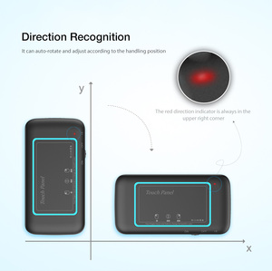 Image 5 - H20 Mini Wireless Keyboard Backlight Touchpad Air mouse IR Leaning Remote control For Andorid BOX Smart TV Windows PK H18 Plus