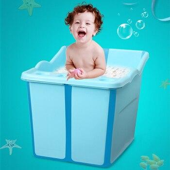 Bathtub Barrel Bathtub Baby Safety Extra Large Portable Folding Baby Bath Tub Whole Body Baby Bathing Without Taking Up Space