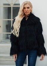 LOOZYKIT Faux Fur Coat Women Winter Thick Warm Furry Casual Coats Female Elegant Long Sleeve Long Cardigan Jackets Streetwear 2019 autumn and winter cardigan women warm thick long cardigan furry variegated women cardigan