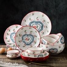 Набор посуды из красной вишни керамические миски фруктовый салат