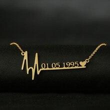 Custom Stethoscope Heartbeat Necklace for Women Love Heart Personalized Necklaces & Pendants Medical Nurse Doctor Lover Gifts татуировка переводная heartbeat