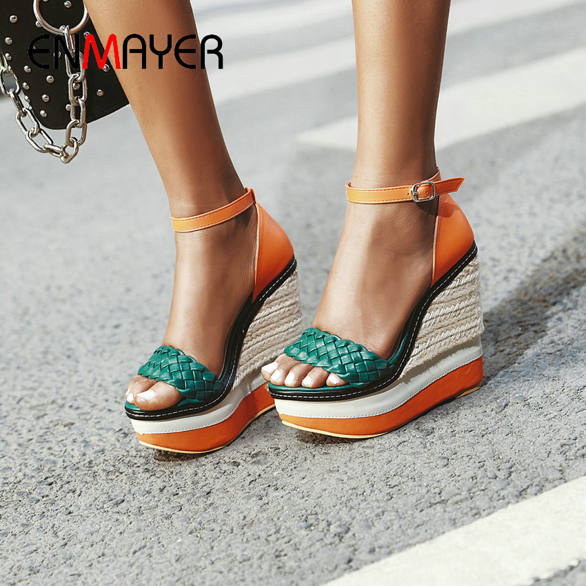 Womens Fashion Summer Breathable Buckle Wedge Platform Casual Chic Sandals