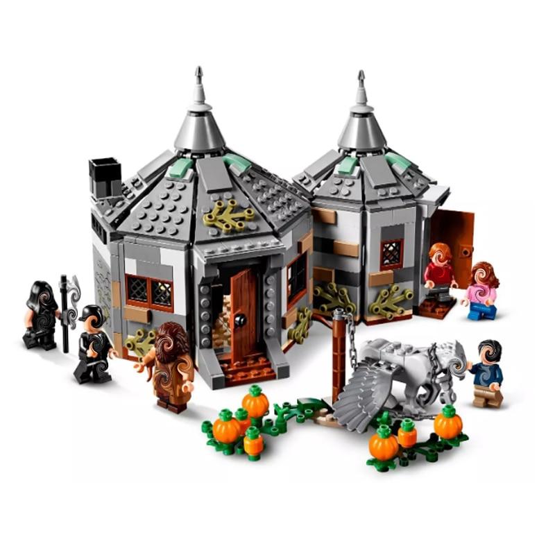 Hot Hagrid Hut Buckbeak Rescue The Knight Bus Magic World Great Hall Movie Toy Christmas Gifts Harri Fit Legoinglys 75947 75957