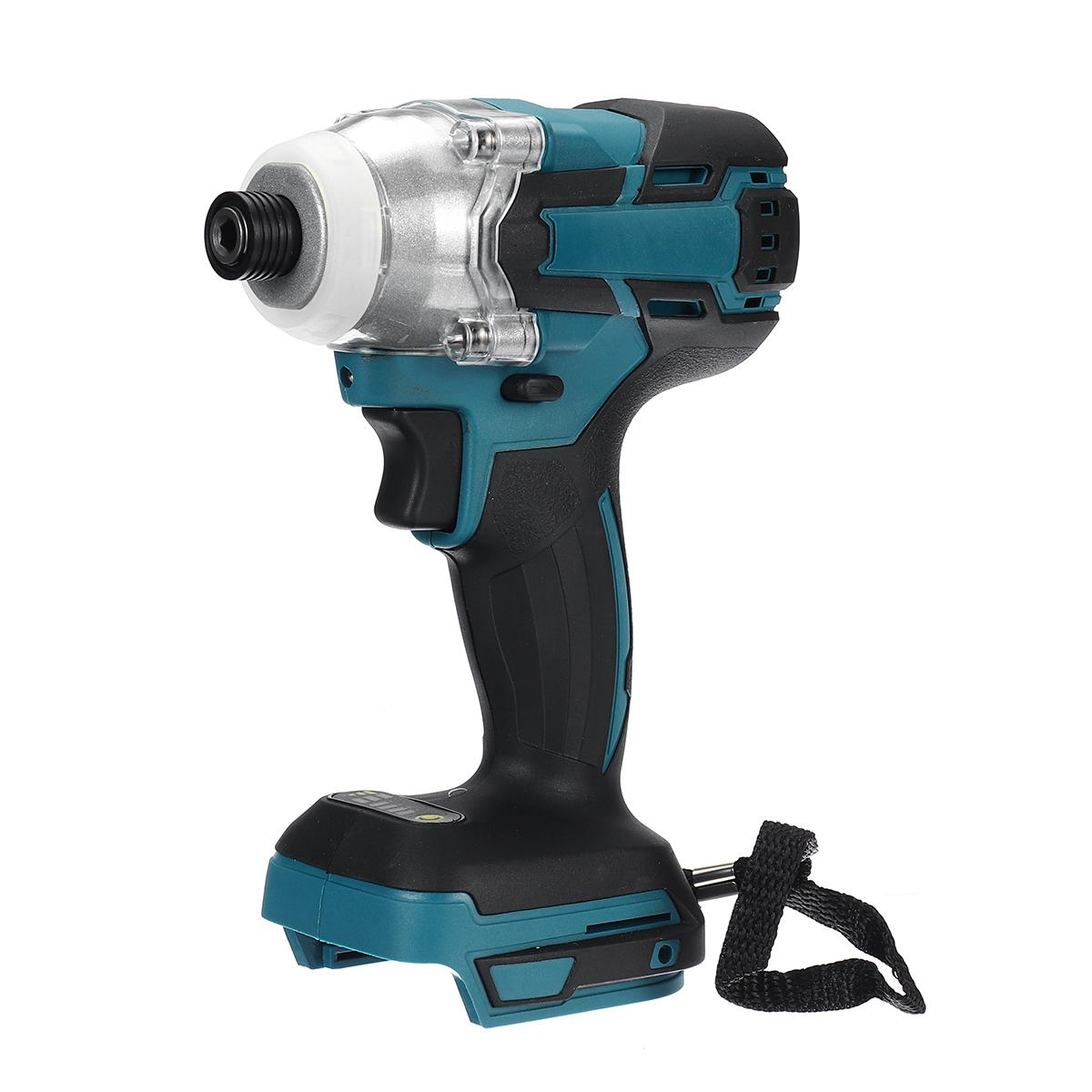 18V 520 N.m Cordless Brushless Electric Screwdriver Speed Impact Wrench Rechargable Drill Driver+ LED Light For Makita Battery