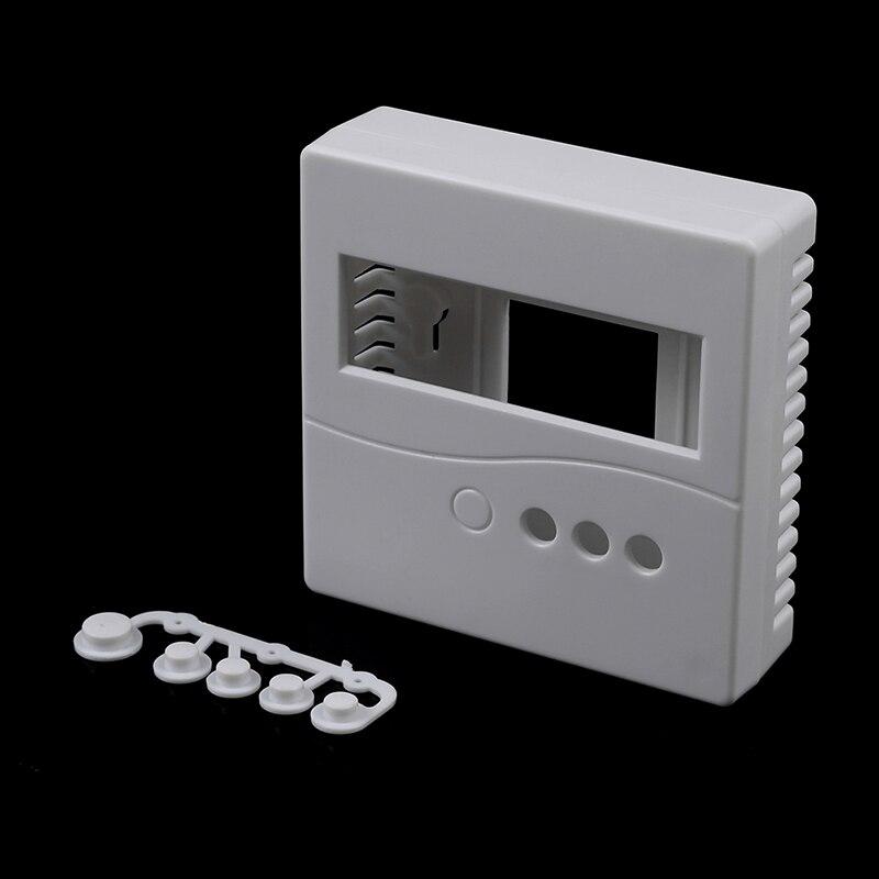 1 шт. 86 белый Пластик ящик проект корпус чехол с пуговицы чехол для DIY LCD1602 метр тестер с металлической кнопкой 8.6x8.6x2.6cm